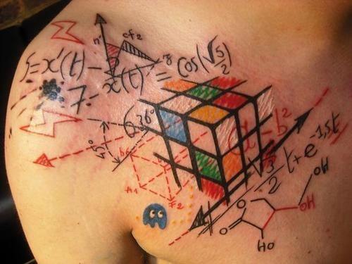 1 Tatuaje formula cubo rubik