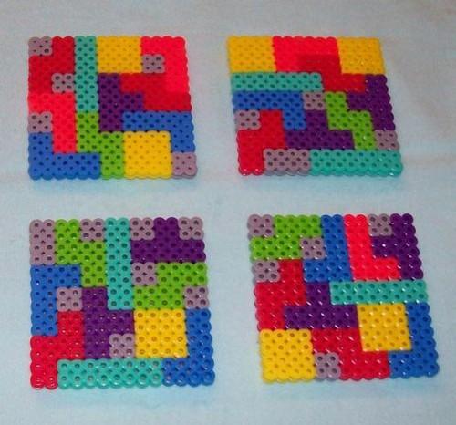 12 posavasos tetris