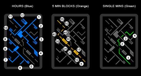 2 Reloj LED Kisai-Transit