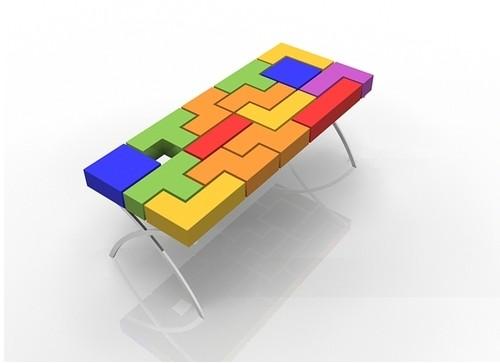 5 mesa tetris concepto