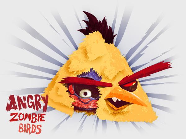 Angry-Zombie-Yellow-Bird