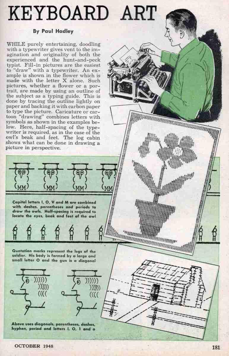 Arte ASCII Vintage de 1948 - 2