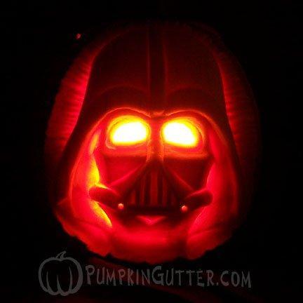 Calabaza Darth Vader 1