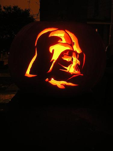 Calabaza Darth Vader 2