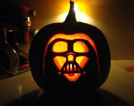 Calabaza Darth Vader 3