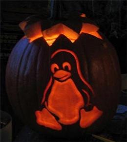 Calabaza de Pinguino de Linux