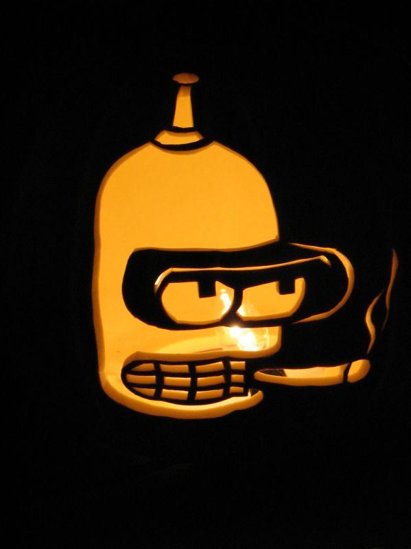 Calabazas de Halloween de Los Simpsons - Bender