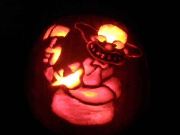 Calabazas de Halloween de Los Simpsons - Krusty
