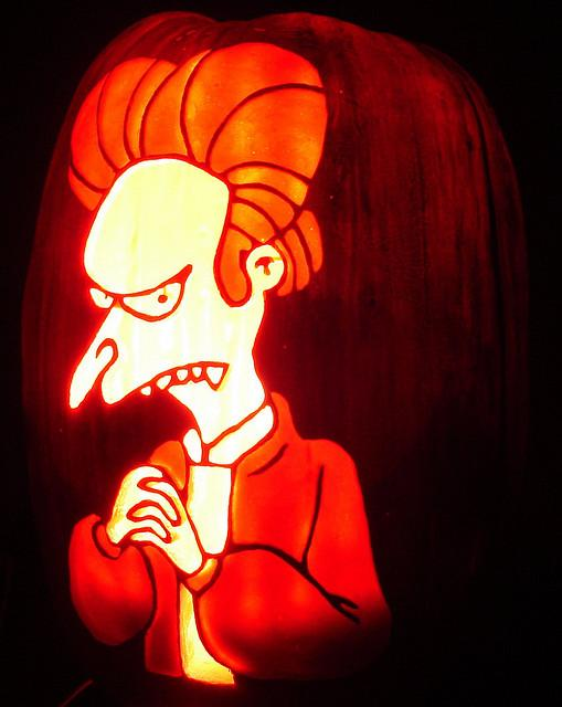 Calabazas de Halloween de Los Simpsons - Montgomery Burns