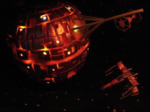 Calabazas de Halloween de Star Wars - Estrella de la Muerte