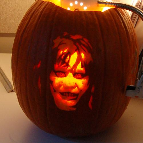 Calabazas de Halloween de peliculas de terror - El exorcistaAwesome Easy Pumpkin Carvings