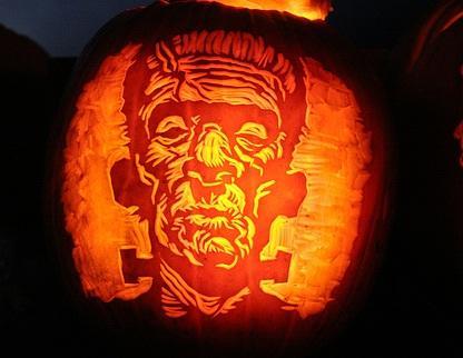 Calabazas de Halloween de peliculas de terror - Frankenstein