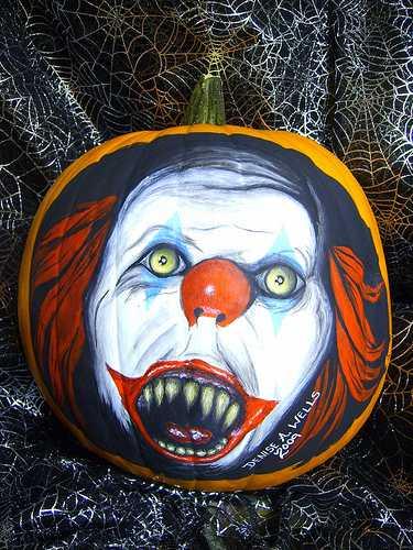 Calabazas de Halloween de peliculas de terror - Pennywise