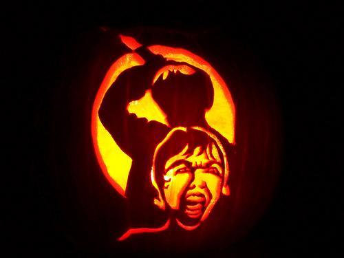 Calabazas de Halloween de peliculas de terror - Psicosis