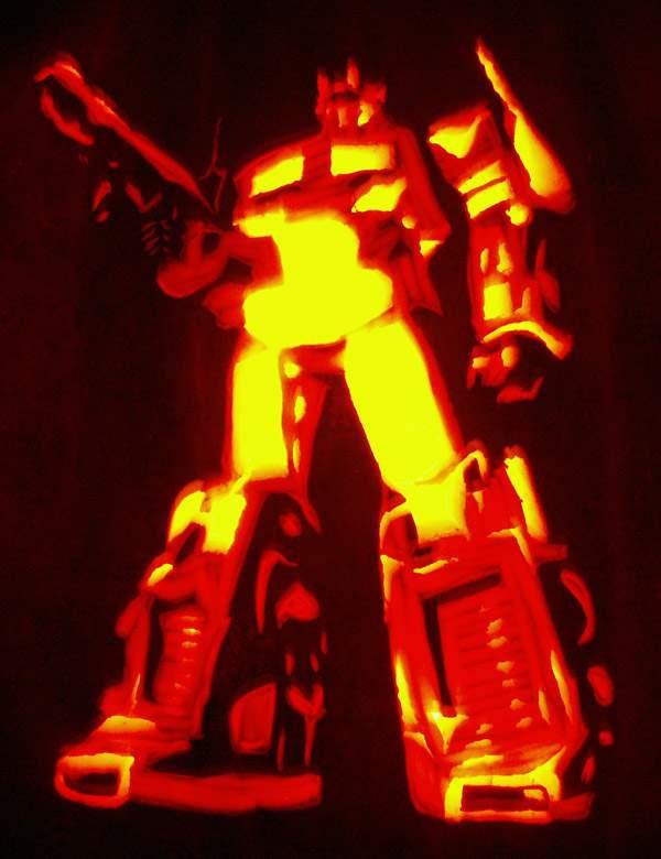 Calabazas de Halloween geeks - Optimus Prime