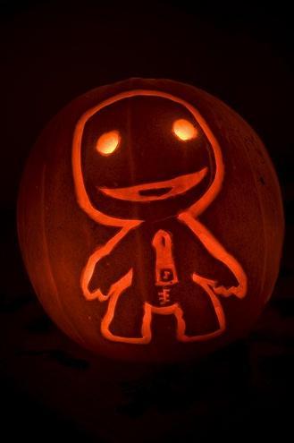 Calabazas de Halloween videojuegos - Sackboy
