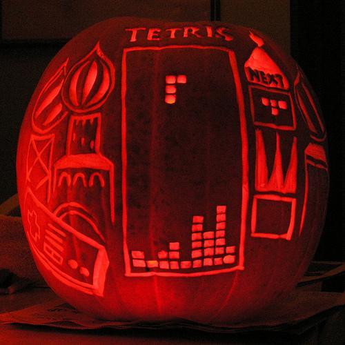 Calabazas de Halloween videojuegos - Tetris