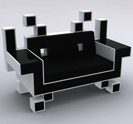 El Sillón de Space Invaders para Interiores Cool y Geeky 1