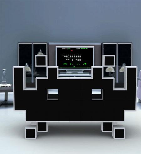 El Sillón de Space Invaders para Interiores Cool y Geeky 2