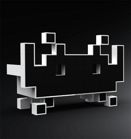 El Sillón de Space Invaders para Interiores Cool y Geeky 3
