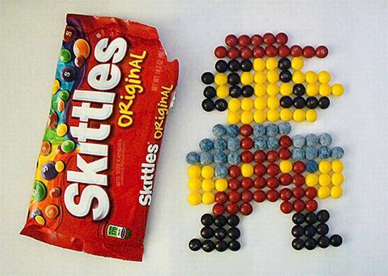 Mario en Skittles