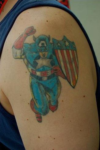 Tatuajes de Captain America 3
