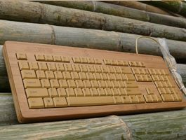 Teclado de Computadoras de Bambú