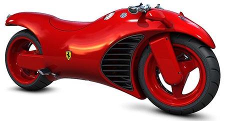 Concepto de Motocicleta Ferrari