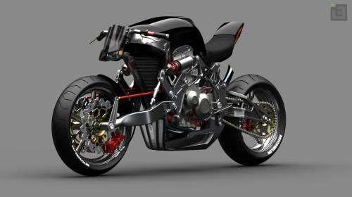 Concepto de Motocicleta de Fallout
