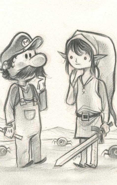 Link Encuentra a Mario