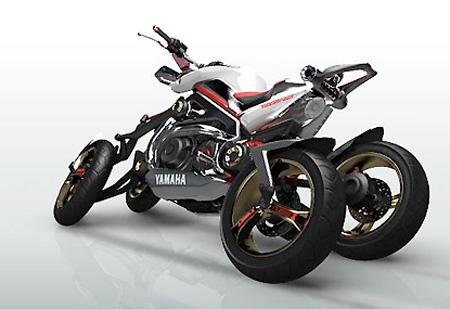 Motocicleta de Cuatro Ruedas Tesseract de Yamaha