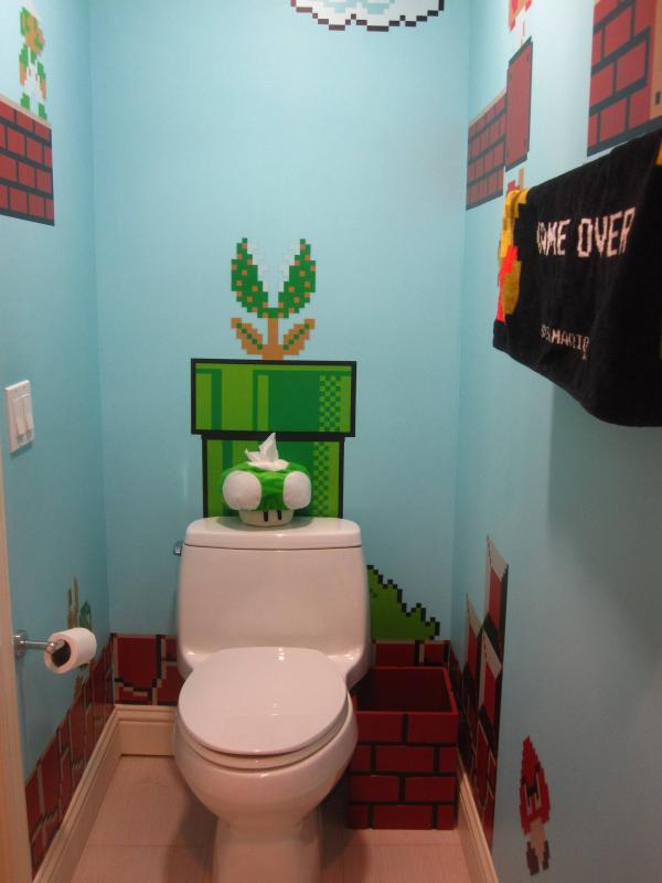 Baño de Super Mario Bros 4