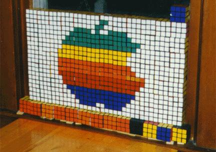 Mosaico de Cubo Rubik de Apple