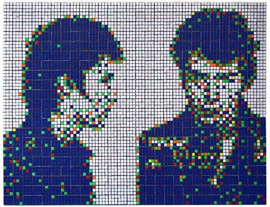 Mosaico de Cubo Rubik de Arrestados