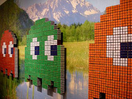 Mosaico de Cubo Rubik de Pac-man 1