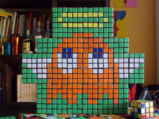 Mosaico de Cubo Rubik de Pac-man 2