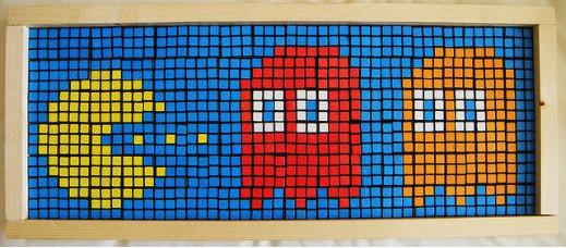 Mosaico de Cubo Rubik de Pac-man 3