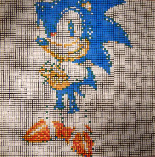 Mosaico de Cubo Rubik de Sonic the Hedgehog