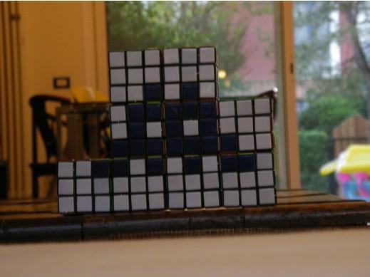 Mosaico de Cubo Rubik de Space Invaders 4
