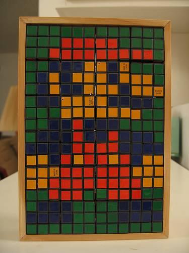 Mosaico de Cubo Rubik de Super Mario Bros