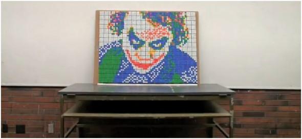 Mosaico de Cubo Rubik del Joker
