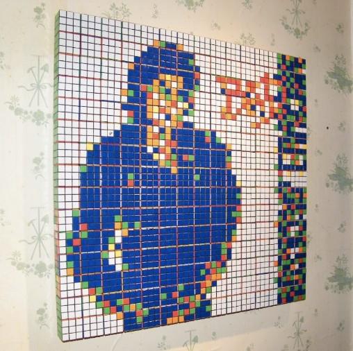 Mosaico de Cubos de Rubik de Bad de Michael Jackson