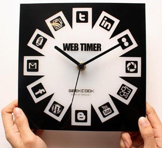 Reloj de Media Social