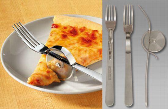 Corta-Pizza con Tenedor