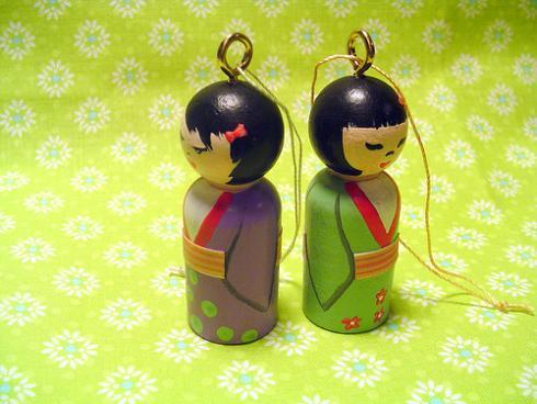 Ornamentos Navideños Kokeshi 2