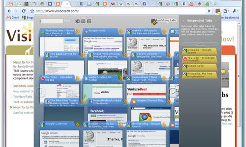 TooManyTabs para Chrome